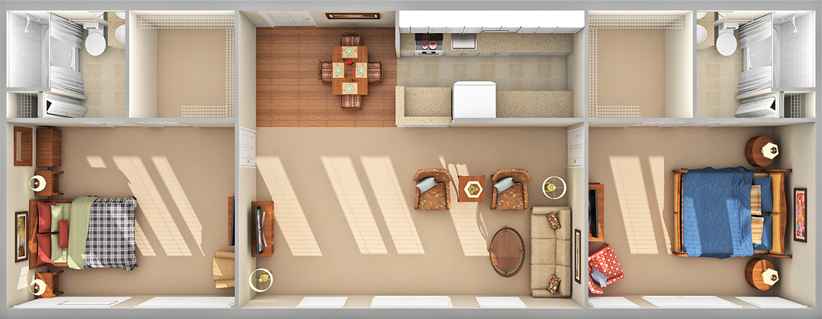 Blue Ridge 3D Floor Plan