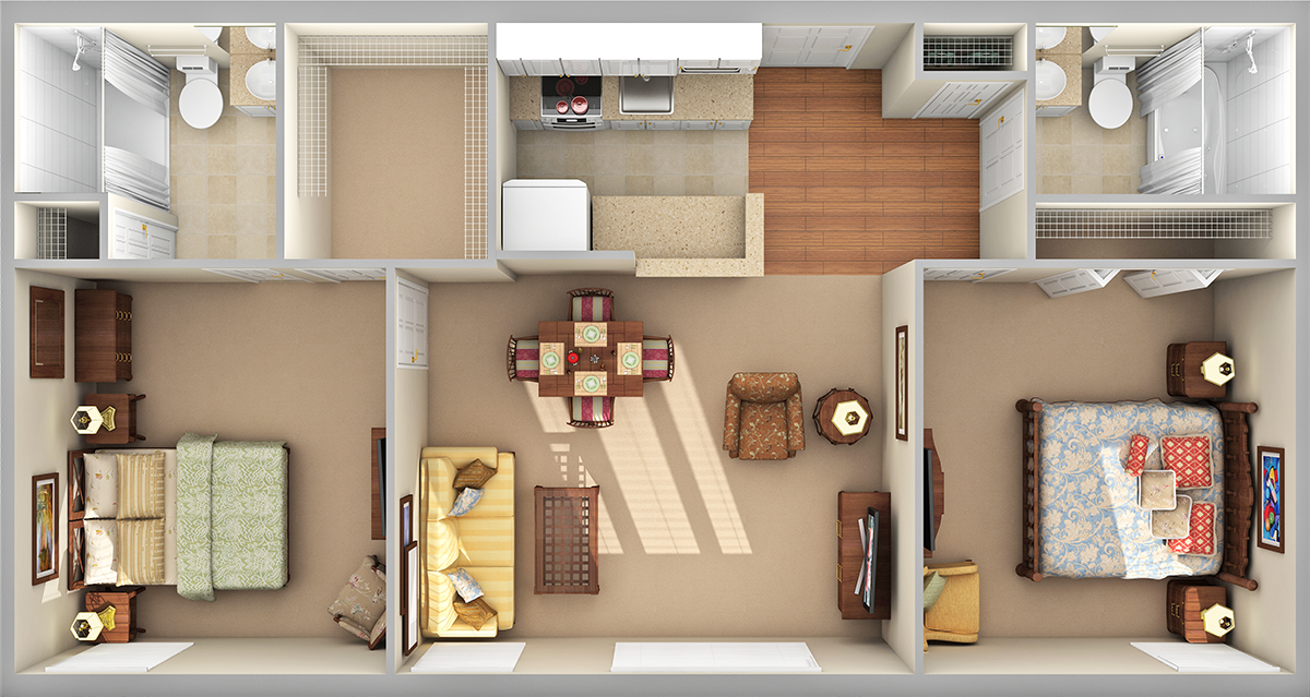 Blue Ridge Standard 3D Floor Plan