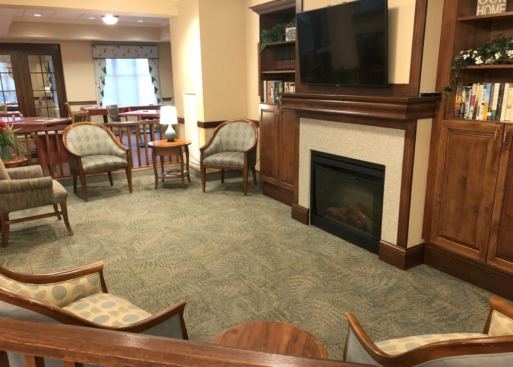 Care Center Fireplace Lounge & Dining Room