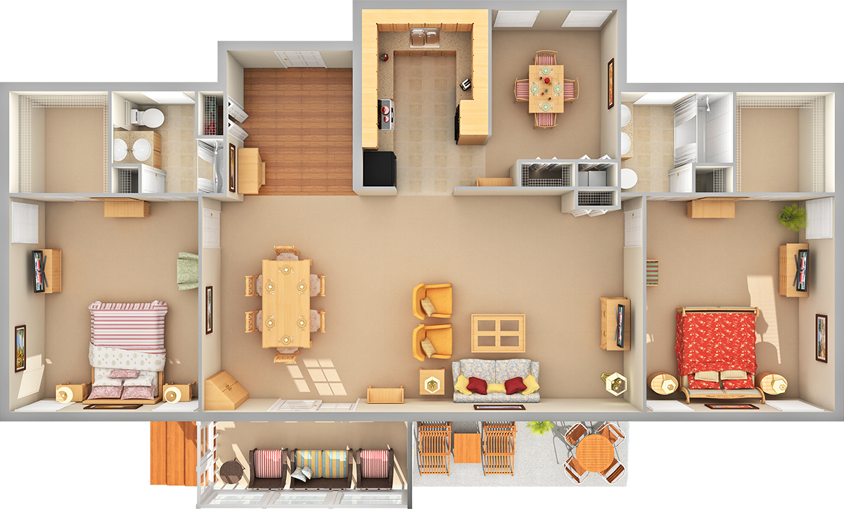 Garden 3D Floor Plan