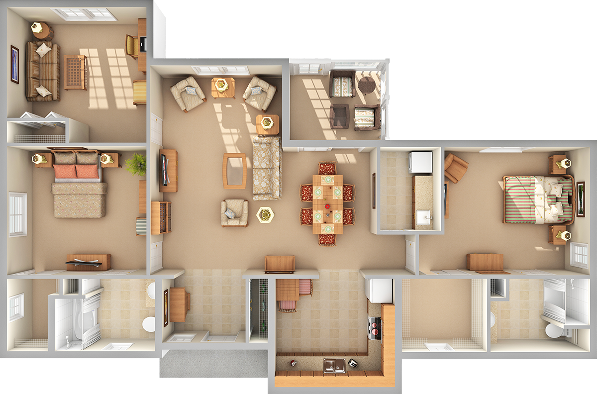 Meadows 3D Floor Plan