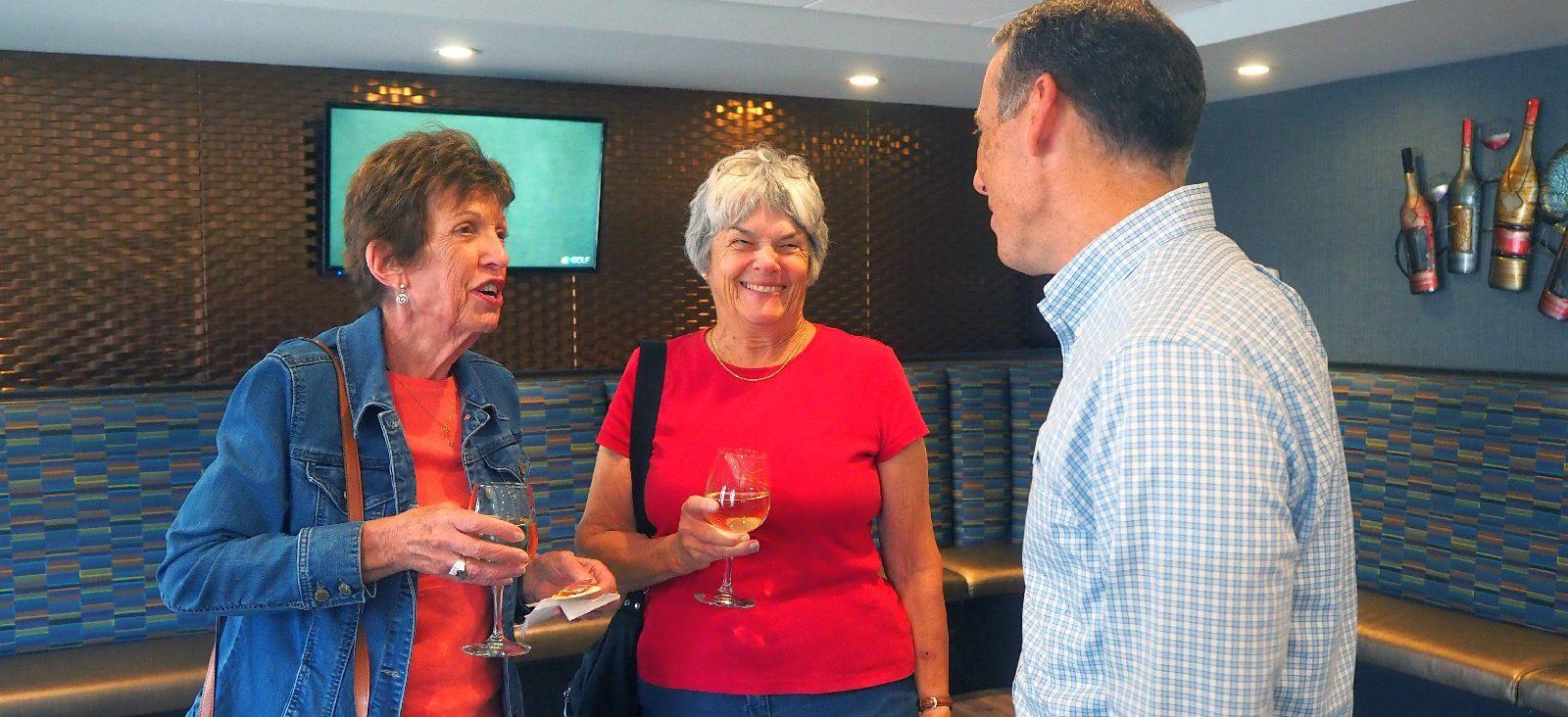 Residents speak with Jon Renegar