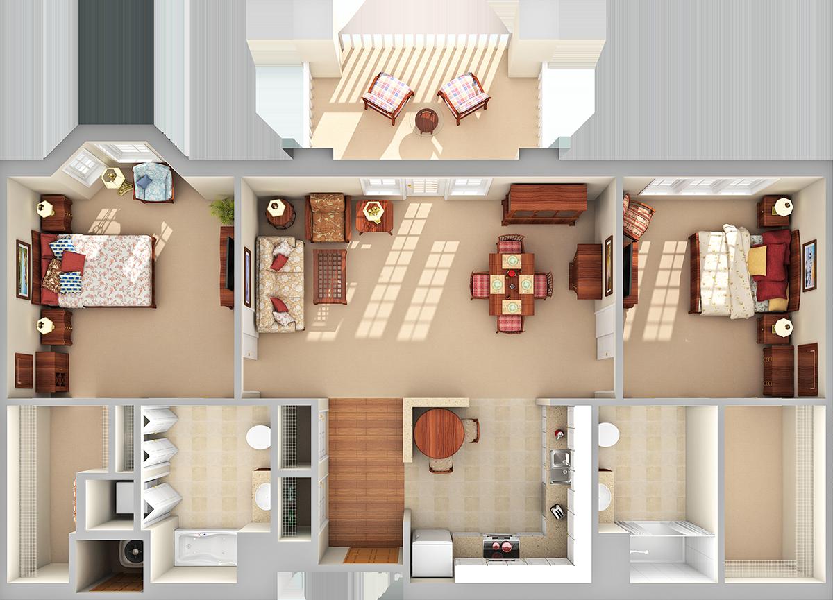 Pinnacle 3D Floor Plan