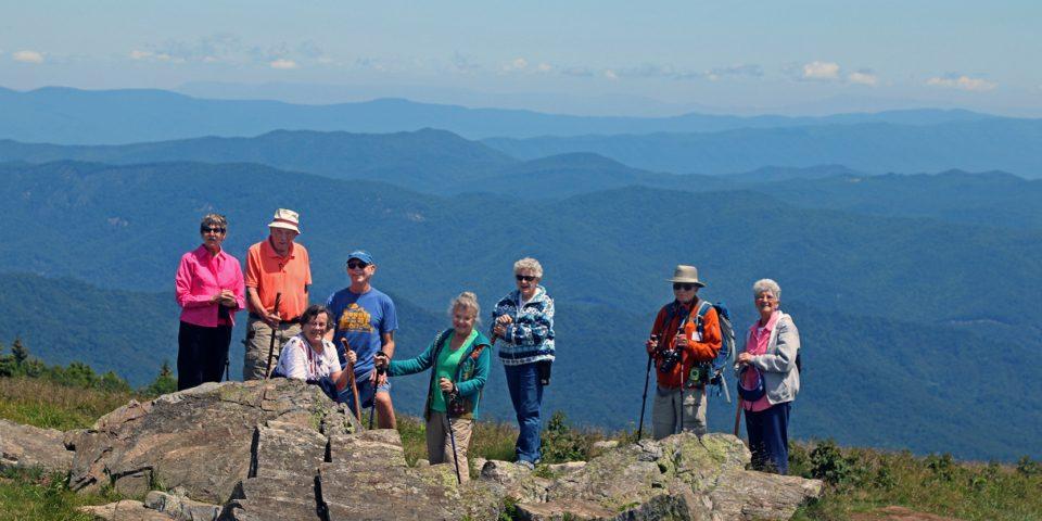 residents overlooking a western North Carolina mountain vista