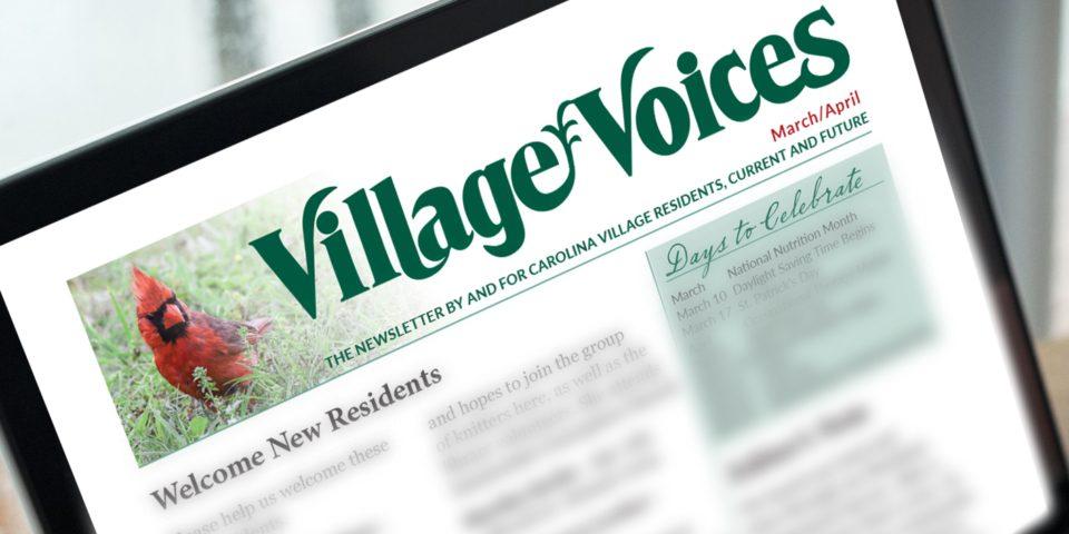Village Voices on Laptop