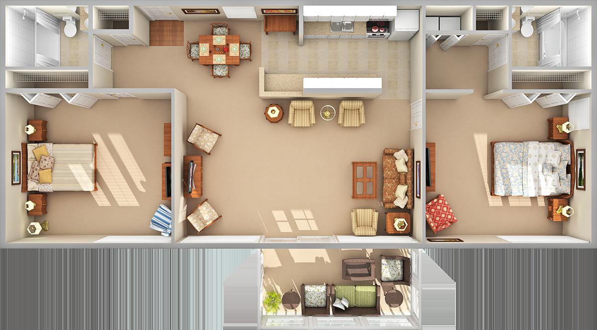 Woods 3D Floor Plan