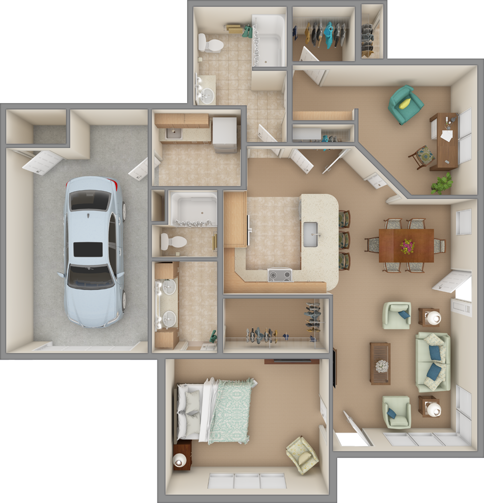 Clear Creek 3D Floor Plan