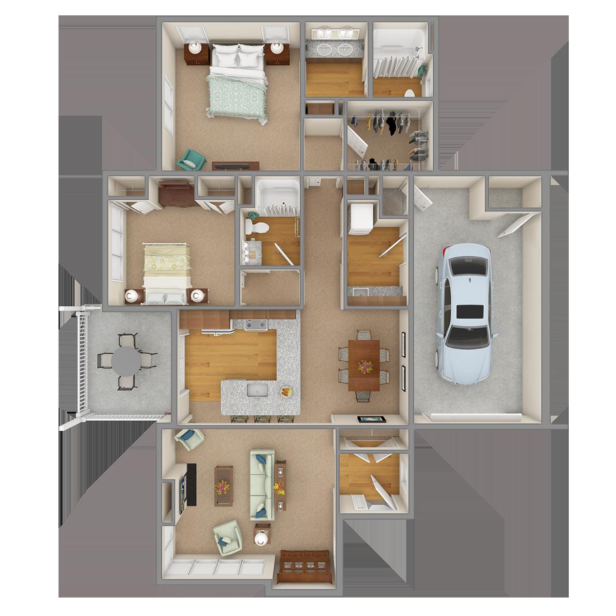 Clear Creek 3D Floor Plan