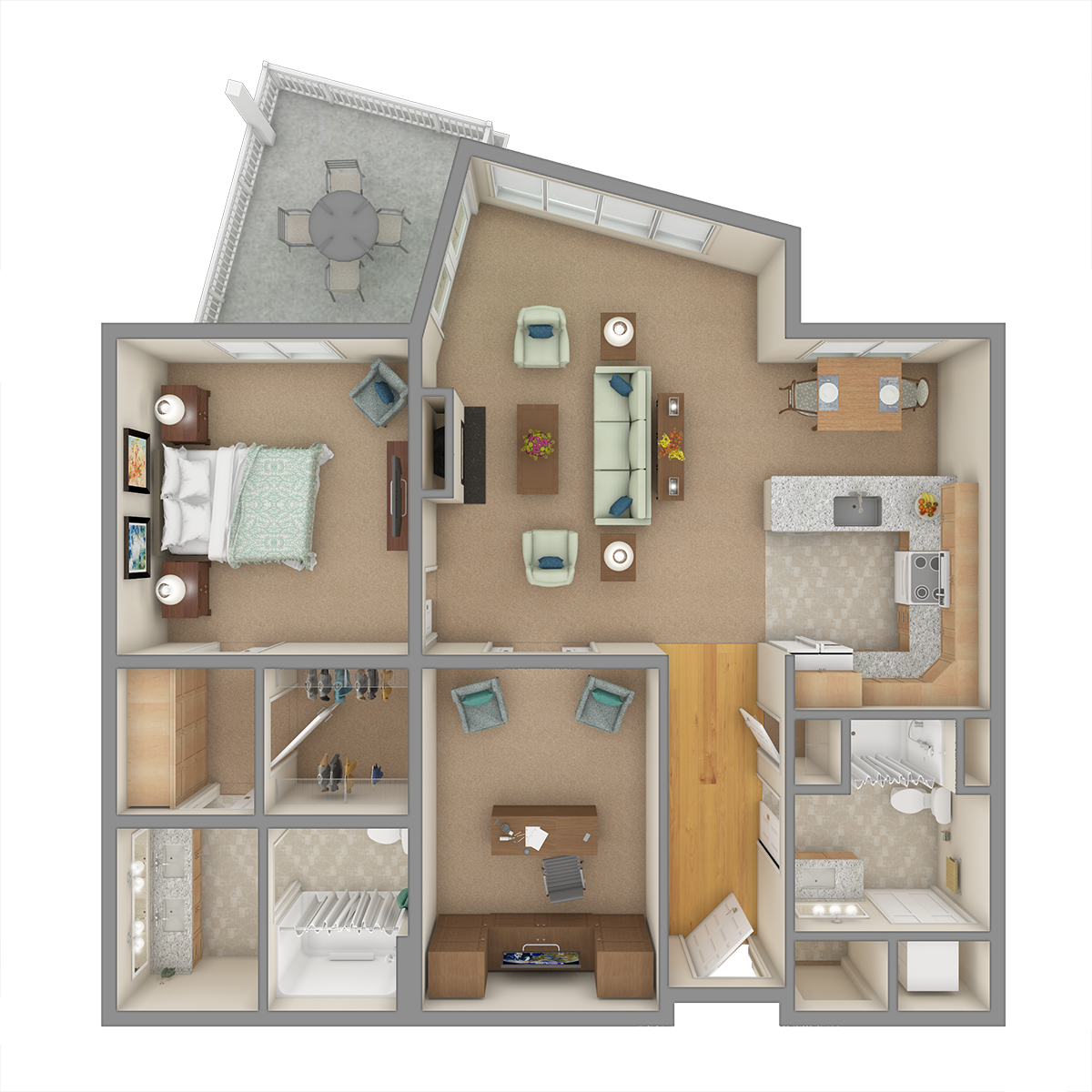 Smoky Mountain 3D Floor Plan