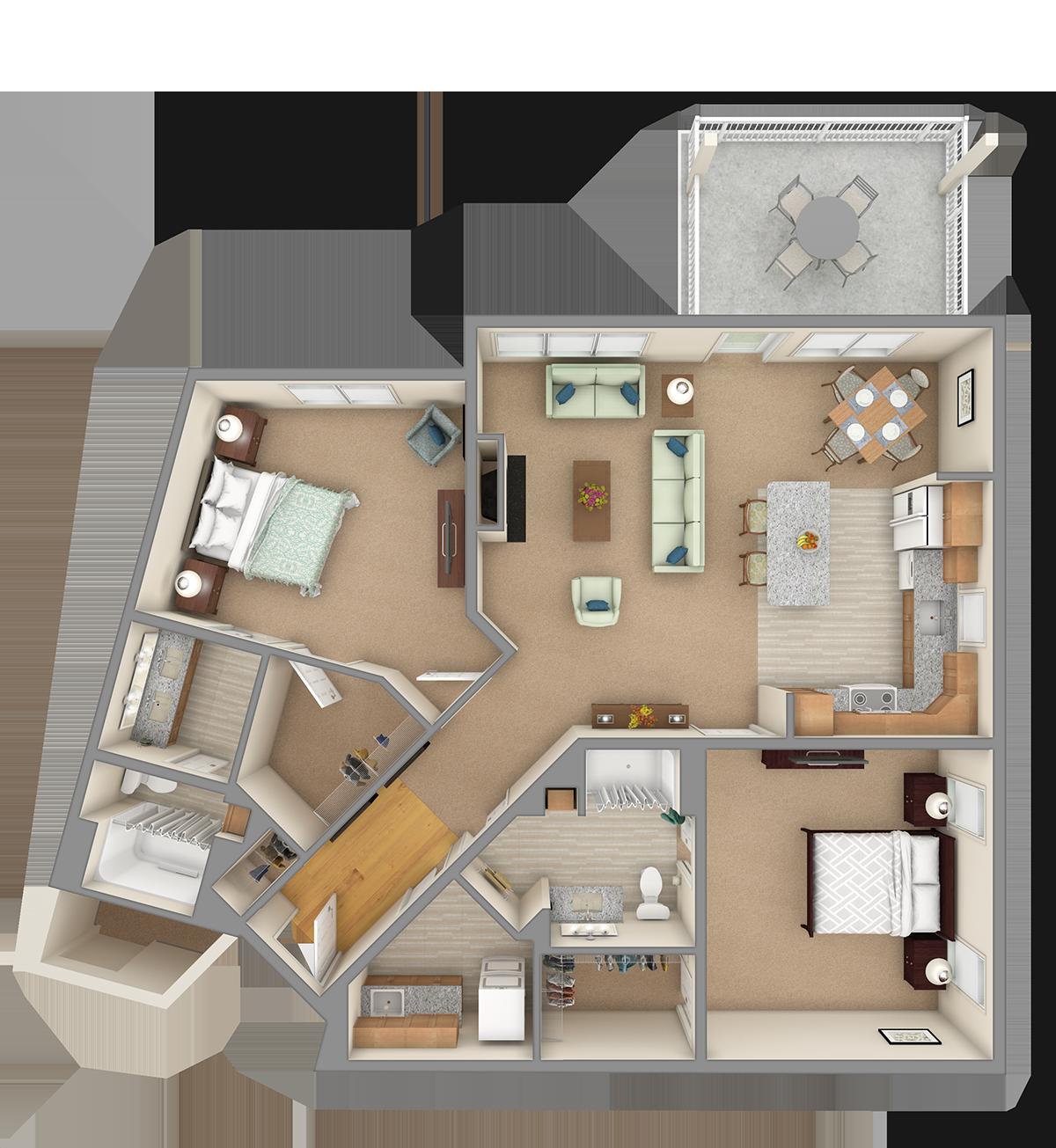 Smoky Mountain 3D Floor Plan